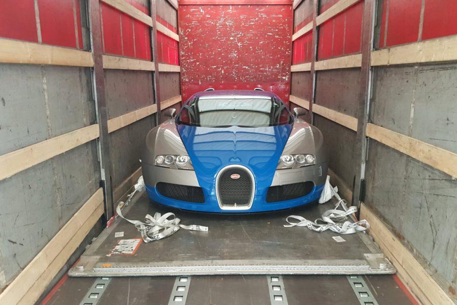 Fret Aérien: transport d'une Bugatti