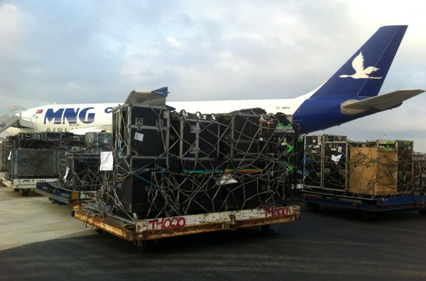 Fret aérien: prise en charge du matériel pour le concert des Eagles