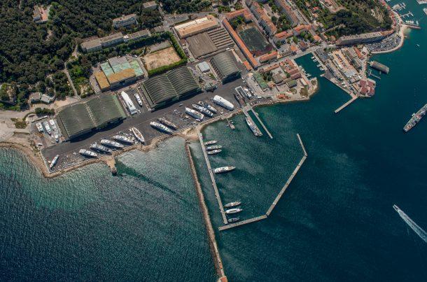 Vue aérienne de Saint Mandrier