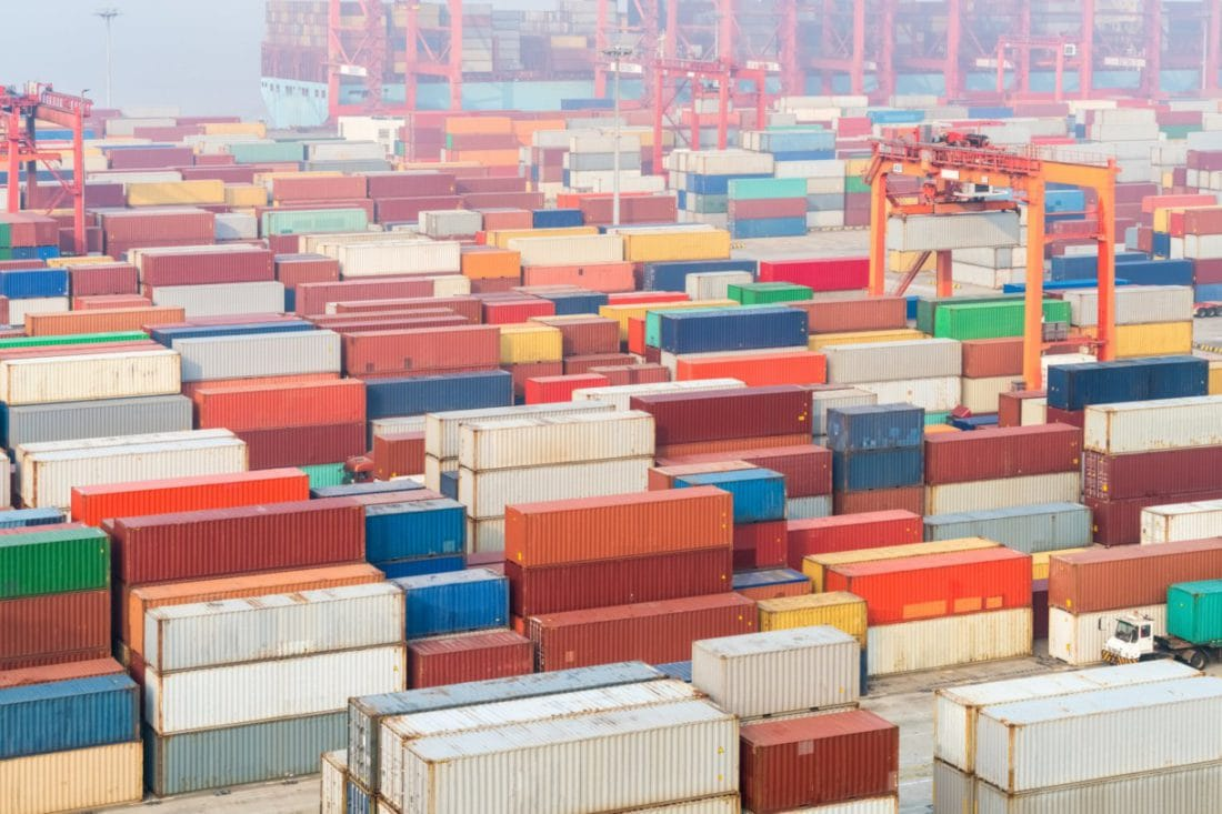 Fermeture du port de Ningbo en Chine