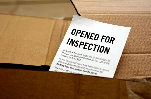 Document d'inspection des douanes, Nouvelle Zélande