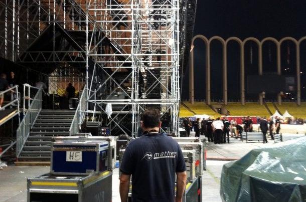 Transport d'équipement - Concert Eagles, Monaco