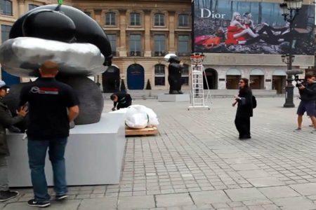 Logistique de l'exposition Li Chen Place Vendôme à Paris (2013)