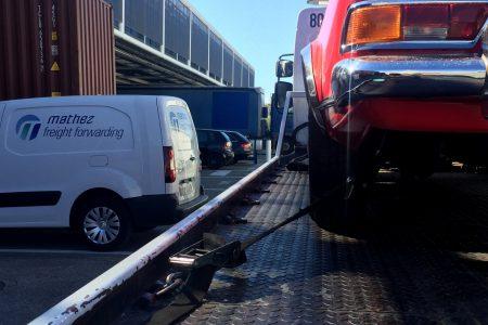 Transport aérien d'une Mercedes à Nice