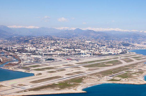 Vue aérienne - aéroport Nice Côte d'Azur