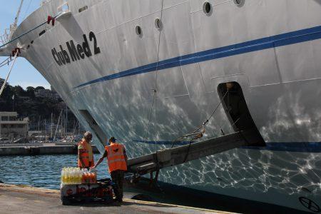 Club Med II supplies, Port of Nice