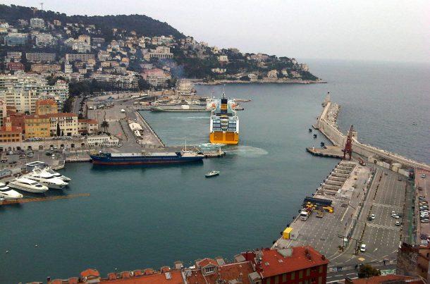 Port de Nice vue d'en haut