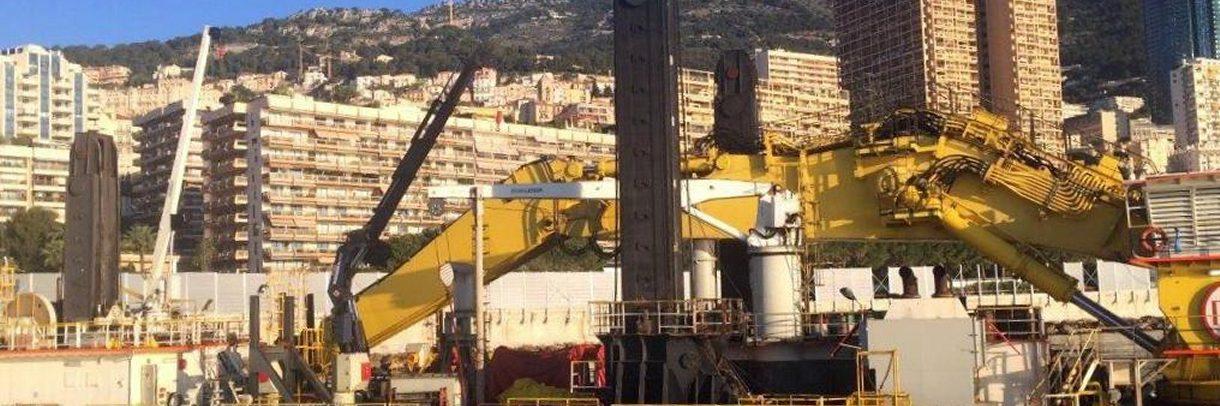 Chantier du tramway, port de Nice