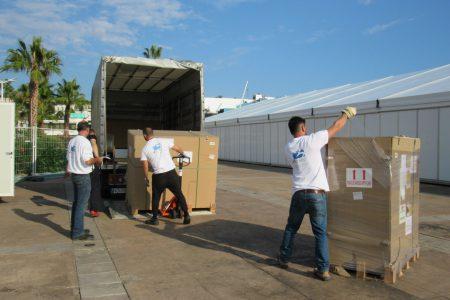 L'équipe MATHEZ ONSITE LOGISTICS de MATHEZ FREIGHT en action sur le TFWA