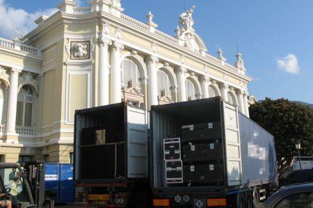Livraison d'une production à l'Opéra de Monaco