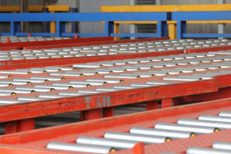 Loading rails for air freight