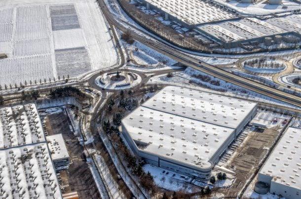 Aéroport de Roissy CDG sous la neige