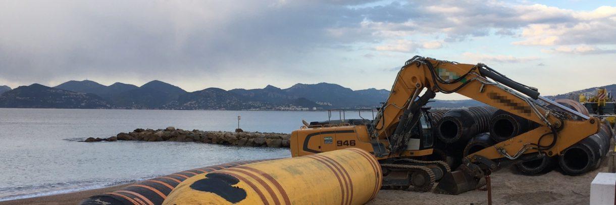 Réensablement des plages de Cannes - 2018