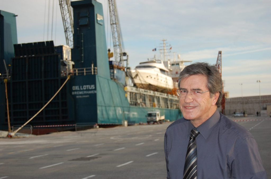 Pierre Mathez at the Port of Nice