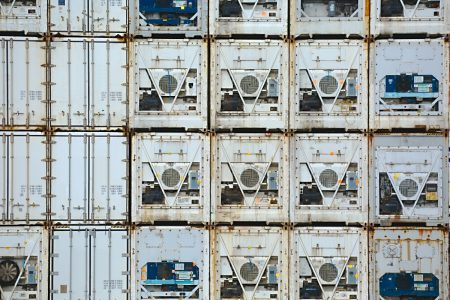 Transport en container réfrigéré