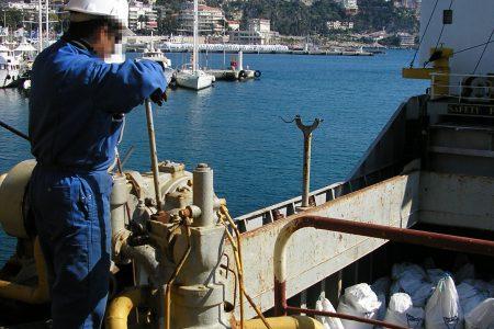 Manutention de big bags, port of  Nice
